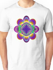 The rainbow flower Unisex T-Shirt