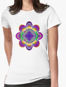 The rainbow flower Womens Fitted T-Shirt