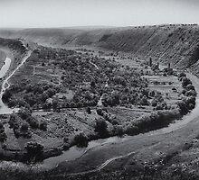 Orheiul Vechi Panorama by John Roshka