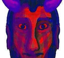 Devil/Demon Head - Available in variety of Products by KyleApEvan