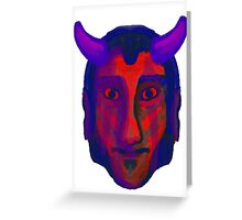 Devil/Demon Head - Available in variety of Products Greeting Card