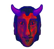 Devil/Demon Head - Available in variety of Products Photographic Print