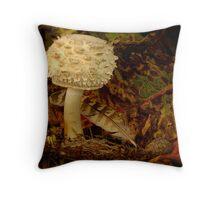 Autumn Fungi Throw Pillow
