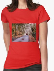 Down the Farm Road Womens Fitted T-Shirt