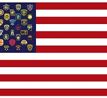 State Trooper, Highway Patrol, State Police, USA Law Enforcement Flag by O O