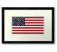 State Trooper, Highway Patrol, State Police, USA Law Enforcement Flag Framed Print