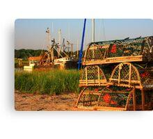 Lobster Traps Canvas Print