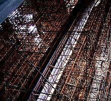Cathedral of Scaffold by hologram