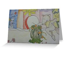 Aswald The Anteater At The Fruit Grove Greeting Card