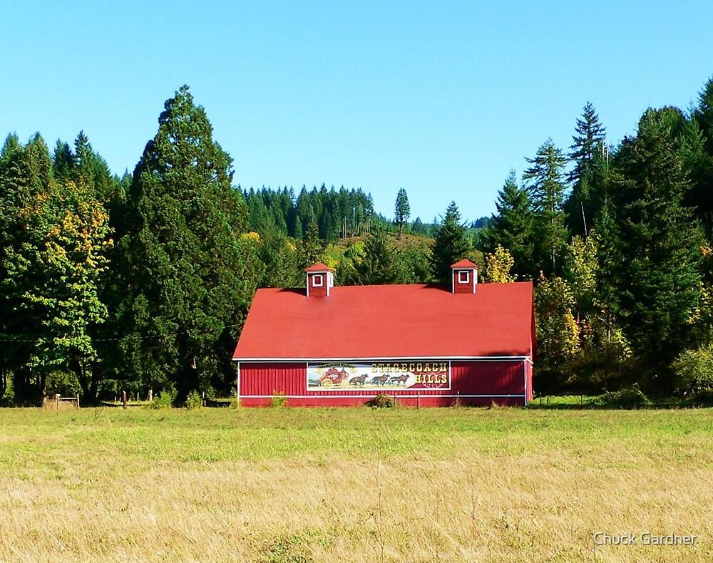 Stage Coach Hills Red Barn  by Chuck Gardner