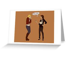 Don't Flatter Yourself Miss Swan Greeting Card