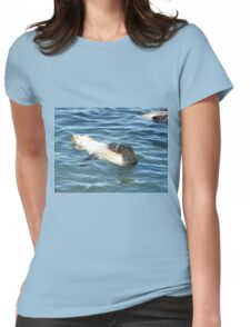 Seal pup relaxing Womens Fitted T-Shirt