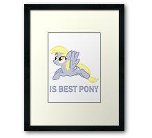 Derpy Is Best Pony - MLP FiM - Brony Framed Print