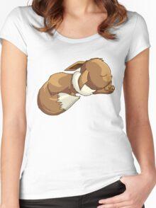 Sleepy Eevee Women's Fitted Scoop T-Shirt