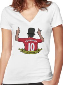 Phil Coutinho - Magician Women's Fitted V-Neck T-Shirt