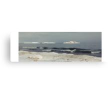 Gloomy Winter Beach Canvas Print
