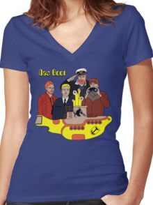 Das Yellow Boot Women's Fitted V-Neck T-Shirt