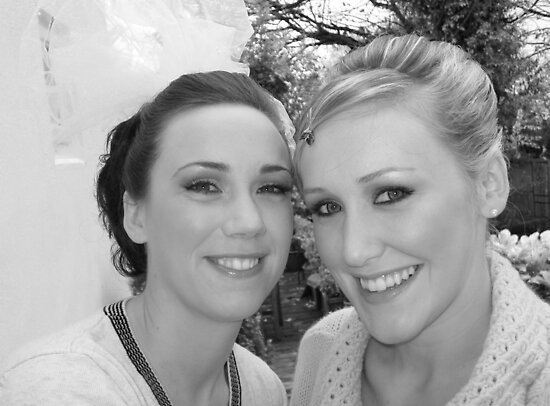 portrait of me and a friend on her wedding day... by Niamh O'Sullivan