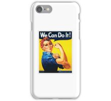Rosie the Riveter classic wartime image iPhone Case/Skin