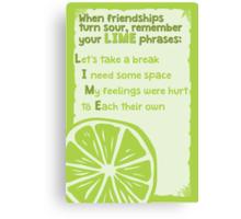 LIME phrases Canvas Print