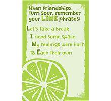 LIME phrases Photographic Print