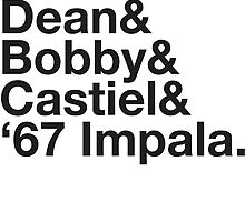 SUPERNATURAL Dean and Sam WINCHESTER Castiel Bobby Singer  by yellowdogtees