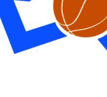Wheelchair Basketball Symbol Design Sticker