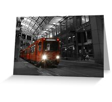 Red Trolley #1 Greeting Card
