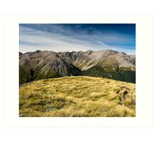 mountains at avalanche peak Art Print
