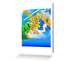 Kid Soldier-Betress Diving in the Feeling of Fresh Wilderness. Greeting Card