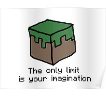Minecraft Imagination Quote Poster