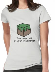 Minecraft Imagination Quote Womens Fitted T-Shirt