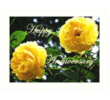 Happy Anniversary Art Print