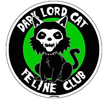 DARK LORD CAT FELINE CLUB Photographic Print