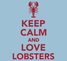 Keep calm and love Lobsters One Piece - Short Sleeve
