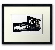 Cnr of Wall st and Broadway Framed Print