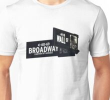 Cnr of Wall st and Broadway Unisex T-Shirt