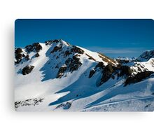 snow covered mountains Canvas Print