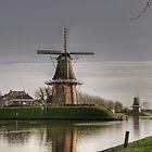 Mills in Dokkum by Minne