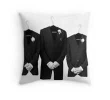 The 3 Hangers Throw Pillow