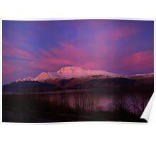 Ben Lomond Sunset Poster