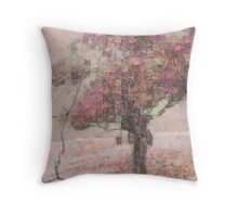 Pink Plaster Apples Throw Pillow