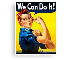 Rosie the Riveter - US World War II Propaganda Poster Canvas Print