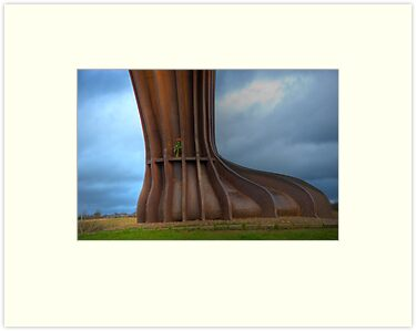 Foot of An Angel: The Angel of the North, Newcastle, UK. by DonDavisUK