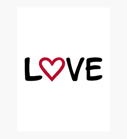 Love red heart Photographic Print