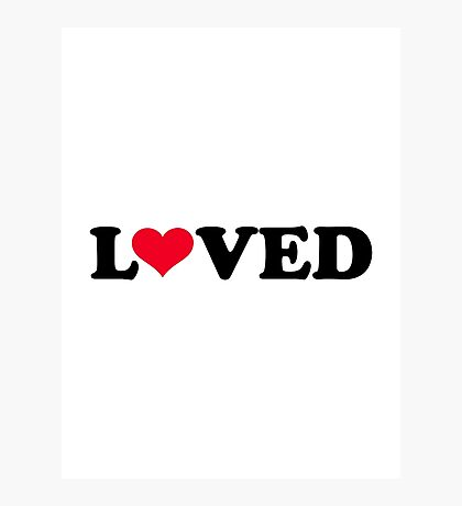 Loved red heart Photographic Print