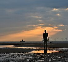 Anthony Gormley's Another Place Iron Men by roxiiestreasure