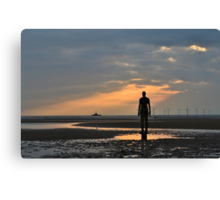 Anthony Gormley's Another Place Iron Men Canvas Print