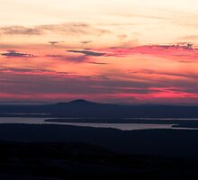 Sunset from Cadillac Mountain by Denise Goldberg