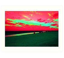 Martian Sunset over Blakeney Art Print